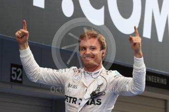 World © Octane Photographic Ltd. Mercedes AMG Petronas W07 Hybrid – Nico Rosberg. Sunday 9th October 2016, F1 Japanese GP - Parc Ferme. Suzuka Circuit, Suzuka, Japan. Digital Ref :1737LB1D8265