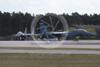 """World © Octane Photographic Ltd. 3rd May 2016 RAF Lakenheath, USAF (United States Air Force) 48th Fighter Wing """"Statue of Liberty Wing"""" 492 Fighter Squadron """"Mad Hatters"""", McDonnell Douglas F-15E Strike Eagle. Digital Ref : 1531CB1D9758"""