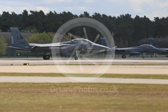 """World © Octane Photographic Ltd. 3rd May 2016 RAF Lakenheath, USAF (United States Air Force) 48th Fighter Wing """"Statue of Liberty Wing"""" 492 Fighter Squadron """"Mad Hatters"""", McDonnell Douglas F-15E Strike Eagle. Digital Ref : 1531CB1D9787"""