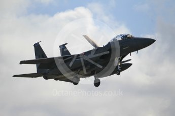 """World © Octane Photographic Ltd. 3rd May 2016 RAF Lakenheath, USAF (United States Air Force) 48th Fighter Wing """"Statue of Liberty Wing"""" 492 Fighter Squadron """"Mad Hatters"""", McDonnell Douglas F-15E Strike Eagle. Digital Ref : 1531CB1L0768"""