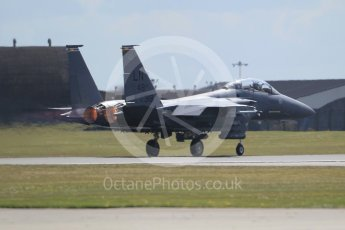 """World © Octane Photographic Ltd. 3rd May 2016 RAF Lakenheath, USAF (United States Air Force) 48th Fighter Wing """"Statue of Liberty Wing"""" 492 Fighter Squadron """"Mad Hatters"""", McDonnell Douglas F-15E Strike Eagle. Digital Ref :1531CB1L1298"""