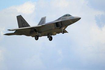 "World © Octane Photographic Ltd. 3rd May 2016 RAF Lakenheath, USAF (United States Air Force) 325th Operations Group, 95th Fighter Squadron ""Boneheads"", Lockheed-Martin F-22 Raptor. Digital Ref :1531CB1L1562"