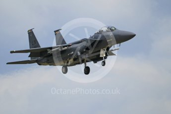 """World © Octane Photographic Ltd. 3rd May 2016 RAF Lakenheath, USAF (United States Air Force) 48th Fighter Wing """"Statue of Liberty Wing"""" commanding officer's personal aircraft, McDonnell Douglas F-15E Strike Eagle. Digital Ref :1531CB1L1725"""