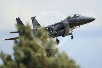 "World © Octane Photographic Ltd. 3rd May 2016 RAF Lakenheath, USAF (United States Air Force) 48th Fighter Wing ""Statue of Liberty Wing"" commanding officer's personal aircraft, McDonnell Douglas F-15E Strike Eagle. Digital Ref :1531CB1L1734"