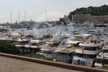"World © Octane Photographic Ltd. Williams Martini Racing yacht ""Rola"". Saturday 28th May 2016, F1 Monaco GP Practice 3, Monaco, Monte Carlo. Digital Ref : 1568CB1D7921"