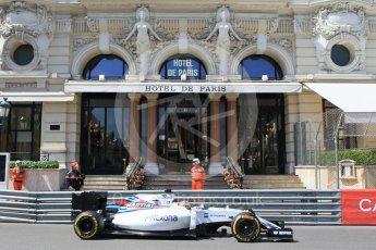 World © Octane Photographic Ltd. Williams Martini Racing, Williams Mercedes FW38 – Felipe Massa. Saturday 28th May 2016, F1 Monaco GP Practice 3, Monaco, Monte Carlo. Digital Ref : 1568CB1D7992
