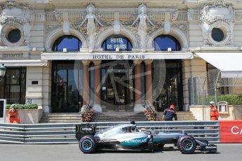 World © Octane Photographic Ltd. Mercedes AMG Petronas W07 Hybrid – Lewis Hamilton. Saturday 28th May 2016, F1 Monaco GP Practice 3, Monaco, Monte Carlo. Digital Ref : 1568CB1D8020