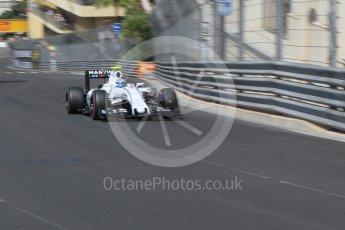 World © Octane Photographic Ltd. Williams Martini Racing, Williams Mercedes FW38 – Valtteri Bottas. Saturday 28th May 2016, F1 Monaco GP Practice 3, Monaco, Monte Carlo. Digital Ref : 1568CB1D8175
