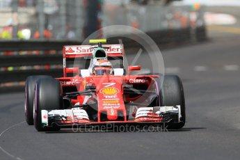World © Octane Photographic Ltd. Scuderia Ferrari SF16-H – Kimi Raikkonen. Saturday 28th May 2016, F1 Monaco GP Practice 3, Monaco, Monte Carlo. Digital Ref : 1568CB7D1933
