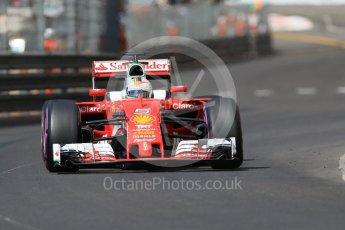 World © Octane Photographic Ltd. Scuderia Ferrari SF16-H – Sebastian Vettel. Saturday 28th May 2016, F1 Monaco GP Practice 3, Monaco, Monte Carlo. Digital Ref : 1568CB7D1943