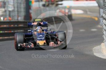 World © Octane Photographic Ltd. Scuderia Toro Rosso STR11 – Carlos Sainz. Saturday 28th May 2016, F1 Monaco GP Practice 3, Monaco, Monte Carlo. Digital Ref : 1568CB7D1963