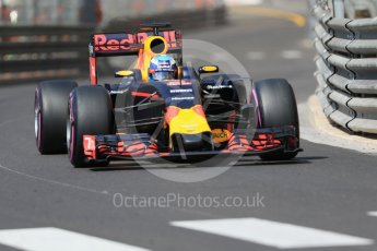 World © Octane Photographic Ltd. Red Bull Racing RB12 – Daniel Ricciardo. Saturday 28th May 2016, F1 Monaco GP Practice 3, Monaco, Monte Carlo. Digital Ref : 1568CB7D1977