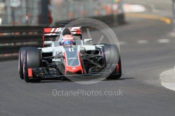 World © Octane Photographic Ltd. Haas F1 Team VF-16 – Romain Grosjean. Saturday 28th May 2016, F1 Monaco GP Practice 3, Monaco, Monte Carlo. Digital Ref : 1568CB7D1982