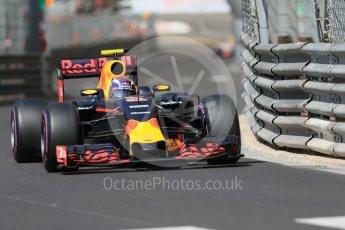 World © Octane Photographic Ltd. Red Bull Racing RB12 – Max Verstappen. Saturday 28th May 2016, F1 Monaco GP Practice 3, Monaco, Monte Carlo. Digital Ref : 1568CB7D1997