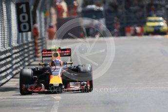 World © Octane Photographic Ltd. Red Bull Racing RB12 – Max Verstappen. Saturday 28th May 2016, F1 Monaco GP Practice 3, Monaco, Monte Carlo. Digital Ref : 1568CB7D2043