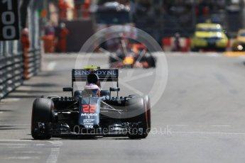 World © Octane Photographic Ltd. McLaren Honda MP4-31 – Jenson Button. Saturday 28th May 2016, F1 Monaco GP Practice 3, Monaco, Monte Carlo. Digital Ref : 1568CB7D2101