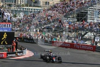 World © Octane Photographic Ltd. McLaren Honda MP4-31 – Jenson Button. Saturday 28th May 2016, F1 Monaco GP Practice 3, Monaco, Monte Carlo. Digital Ref : 1568LB1D0067