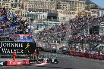 World © Octane Photographic Ltd. Mercedes AMG Petronas W07 Hybrid – Nico Rosberg. Saturday 28th May 2016, F1 Monaco GP Practice 3, Monaco, Monte Carlo. Digital Ref : 1568LB1D0084