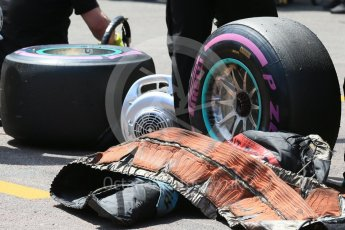World © Octane Photographic Ltd. Mercedes AMG Petronas W07 Hybrid - Ultra Softs tyres. Saturday 28th May 2016, F1 Monaco GP Practice 3, Monaco, Monte Carlo. Digital Ref : 1568LB1D0119