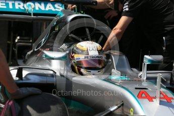 World © Octane Photographic Ltd. Mercedes AMG Petronas W07 Hybrid – Lewis Hamilton. Saturday 28th May 2016, F1 Monaco GP Practice 3, Monaco, Monte Carlo. Digital Ref : 1568LB1D0139