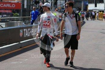 World © Octane Photographic Ltd. Haas F1 Team – Romain Grosjean. Saturday 28th May 2016, F1 Monaco GP Practice 3, Monaco, Monte Carlo. Digital Ref : 1568LB1D9141