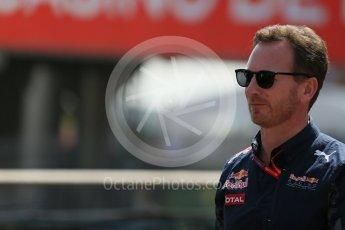 World © Octane Photographic Ltd. Red Bull Racing - Christian Horner. Saturday 28th May 2016, F1 Monaco GP Practice 3, Monaco, Monte Carlo. Digital Ref : 1568LB1D9316