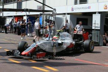 World © Octane Photographic Ltd. Haas F1 Team VF-16 - Esteban Gutierrez. Saturday 28th May 2016, F1 Monaco GP Practice 3, Monaco, Monte Carlo. Digital Ref : 1568LB1D9393