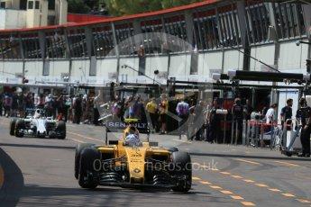 World © Octane Photographic Ltd. Renault Sport F1 Team RS16 – Jolyon Palmer. Saturday 28th May 2016, F1 Monaco GP Practice 3, Monaco, Monte Carlo. Digital Ref : 1568LB1D9441