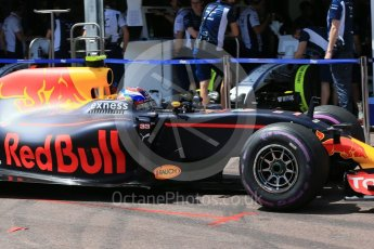 World © Octane Photographic Ltd. Red Bull Racing RB12 – Max Verstappen. Saturday 28th May 2016, F1 Monaco GP Practice 3, Monaco, Monte Carlo. Digital Ref : 1568LB1D9829