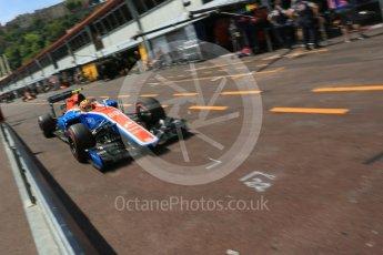 World © Octane Photographic Ltd. Manor Racing MRT05 – Rio Haryanto. Saturday 28th May 2016, F1 Monaco GP Practice 3, Monaco, Monte Carlo. Digital Ref : 1568LB5D8250