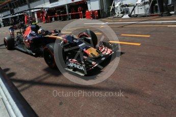 World © Octane Photographic Ltd. Scuderia Toro Rosso STR11 – Carlos Sainz. Saturday 28th May 2016, F1 Monaco GP Practice 3, Monaco, Monte Carlo. Digital Ref : 1568LB5D8258