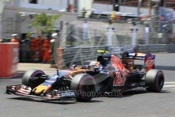 World © Octane Photographic Ltd. Scuderia Toro Rosso STR11 – Carlos Sainz. Saturday 28th May 2016, F1 Monaco GP Qualifying, Monaco, Monte Carlo. Digital Ref : 1569CB1D8238