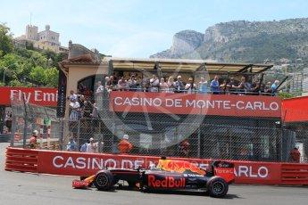 World © Octane Photographic Ltd. Red Bull Racing RB12 – Daniel Ricciardo. Saturday 28th May 2016, F1 Monaco GP Qualifying, Monaco, Monte Carlo. Digital Ref :