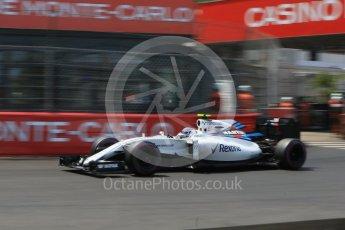 World © Octane Photographic Ltd. Williams Martini Racing, Williams Mercedes FW38 – Valtteri Bottas. Saturday 28th May 2016, F1 Monaco GP Qualifying, Monaco, Monte Carlo. Digital Ref : 1569CB7D2328