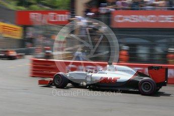World © Octane Photographic Ltd. Haas F1 Team VF-16 – Romain Grosjean. Saturday 28th May 2016, F1 Monaco GP Qualifying, Monaco, Monte Carlo. Digital Ref : 1569CB7D2354
