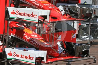 World © Octane Photographic Ltd. Scuderia Ferrari SF16-H – noses and front wings. Wednesday 25th May 2016, F1 Monaco GP Paddock, Monaco, Monte Carlo. Digital Ref :1559CB7D9812
