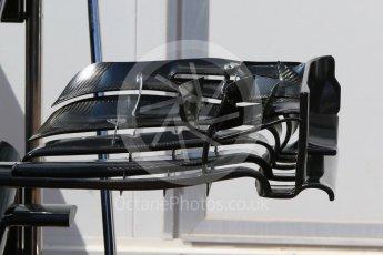 World © Octane Photographic Ltd. McLaren Honda MP4-31 – front wing. Wednesday 25th May 2016, F1 Monaco GP Paddock, Monaco, Monte Carlo. Digital Ref :1559CB7D9922