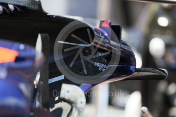World © Octane Photographic Ltd. Scuderia Toro Rosso STR11 – inside sidepod front. Wednesday 25th May 2016, F1 Monaco GP Paddock, Monaco, Monte Carlo. Digital Ref :1559LB1D4318
