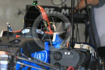 World © Octane Photographic Ltd. Manor Racing MRT05 - intake. Wednesday 25th May 2016, F1 Monaco GP Paddock, Monaco, Monte Carlo. Digital Ref :1559LB1D4360