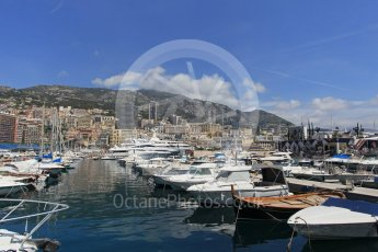 World © Octane Photographic Ltd. Yachts in the harbour. Wednesday 25th May 2016, F1 Monaco GP Paddock, Monaco, Monte Carlo. Digital Ref :1559LB1L6474