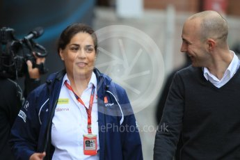 World © Octane Photographic Ltd. Sauber F1 Team Principal – Monisha Kaltenborn. Sunday 29th May 2016, F1 Monaco GP Paddock, Monaco, Monte Carlo. Digital Ref : 1572CB1D8857