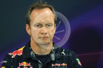 World © Octane Photographic Ltd. F1 Monaco GP FIA Team Personnel Press Conference, Monaco, Monte Carlo, Thursday 26th May 2016. Red Bull Racing Chief Engineer (Car Engineering) - Paul Monaghan. Digital Ref : 1563LB1D7964