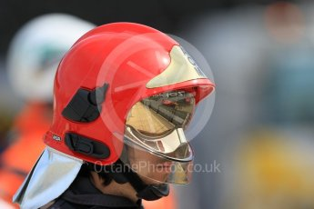 World © Octane Photographic Ltd. Racing Engineering - GP2/11 – Norman Nato reflected in a fire marshal's gold visor. Thursday 26th May 2016, GP2 Qualifying Group A, Monaco, Monte Carlo. Digital Ref : 1564CB1D7444