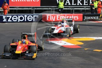 World © Octane Photographic Ltd. Racing Engineering - GP2/11 – Norman Nato and ART Grand Prix – Sergey Sirotkin. Friday 27th May 2016, GP2 Race 1 1st lap, Monaco, Monte Carlo. Digital Ref :1566CB7D1493