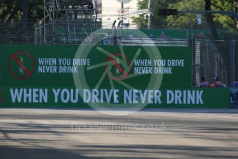 "World © Octane Photographic Ltd. Heineken ""When you drive never drink"" advertising. Friday 16th September 2016, F1 Singapore GP Practice 1, Marina Bay Circuit, Singapore. Digital Ref :"