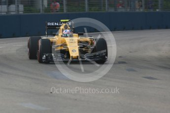 World © Octane Photographic Ltd. Renault Sport F1 Team RS16 – Jolyon Palmer. Friday 16th September 2016, F1 Singapore GP Practice 1, Marina Bay Circuit, Singapore. Digital Ref :