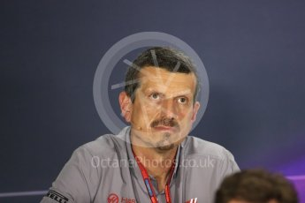World © Octane Photographic Ltd. F1 Singapore GP FIA Personnel Press Conference, Marina Bay Circuit, Singapore. Friday 16th September 2016. Guenther Steiner – Team Principal Haas F1 Team. Digital Ref : 1718LB1D0193