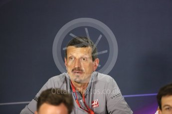 World © Octane Photographic Ltd. F1 Singapore GP FIA Personnel Press Conference, Marina Bay Circuit, Singapore. Friday 16th September 2016. Guenther Steiner – Team Principal Haas F1 Team. Digital Ref : 1718LB1D0223