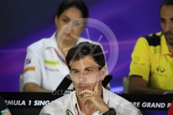 World © Octane Photographic Ltd. F1 Singapore GP FIA Personnel Press Conference, Marina Bay Circuit, Singapore. Friday 16th September 2016. Toto Wolff – Executive Director Mercedes AMG Petronas. Digital Ref : 1718LB1D0254