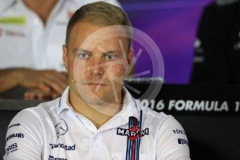 World © Octane Photographic Ltd. F1 Singapore GP FIA Drivers' Press Conference, Marina Bay Circuit, Singapore. Thursday 15th September 2016. Williams Martini Racing – Valtteri Bottas. Digital Ref :1714LB1D8786